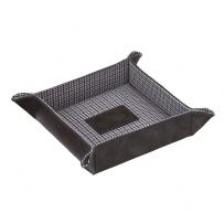 Jacob Jones 73480 Grey Coin Tray With Grey Checkered Cotton Lining